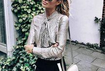 Metallic outfits