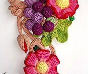 Crochet necklace. Вязаные бусы-идеи / Мне очень нравятся вязаные бусы-очень необычные и стильные