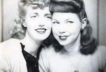 Cheveux vintage noir-blanc