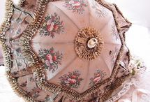PARASOLS,HAND FANS, AND HAND BAGS / ANTIQUE ACCESSORIES / by Sharlean Mckee