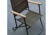Sit in kayak, DIY high seat. Made from old folding Chair. / From a folding Army chair to a sit in kayak high seat.  Easy to make and is very sturdy and secure.