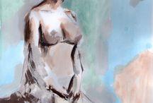 Pinturas. / Obras de pequeño formato, realizadas en el 2015.