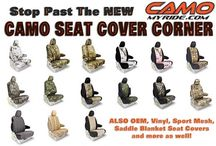 Camouflage Seat Covers / Custom fit, made to order seat covers!