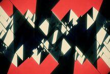 映像_効果背景_幾何学映像
