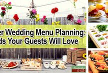 Summer Wedding Menu Planning: Foods Your Guests Will Love / While most of the planning for a summer wedding is easy, picking the right menu is probably one of the most daunting tasks for a couple. You know you have to serve your guests something, but what can you serve that will hold up to the heat and not overload your guests?  http://www.kimberleyandkev.com/summer-wedding-menu-planning-foods-your-guests-will-love/