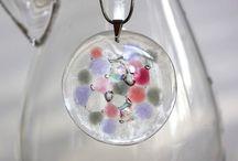 Kaleidoscope / Kaleidoszkóp üveg ékszerek