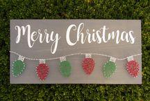 Christmas Nail and String Art