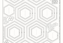 "Quiltsmart ZigZapps! Hexagons / ZigZapps! Hexagons fusible appliqué panels. Just cut, stitch, trim, and turn to make fusible appliqués for all your sewing projects! Twelve hexagons with 3 sizes you choose per panel. Instructions and tips printed on the interfacing. Five 12"" x 18"" fusible interfacing panels per pack. #sewing #quilting #quilt #quilted #diy #handmade #craft #ideas #howto #quiltsmart #pattern #applique #zigzapps #fusibleinterfacing"
