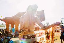 Sarah Loven / Coachella / The gorgeous blogger Sarah Loven wearing our beaded silk kimono.