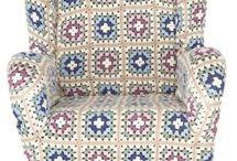 capa de sofa de croche