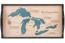 Michigan Trays / 2 dimensional serving trays made from one piece of wood.