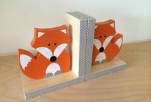 Nursery Themes // What Does the Fox Say? / Fun foxy, woodland nursery using orange, mint, turquoise and navy blue. Includes arrows, fox, teepees, baby boy crib bedding.