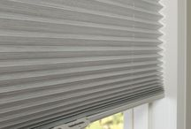 Pleated Shades / The Hunter Douglas collection of pleated shades feature fabrics with bold colors and modern patterns