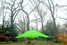 Vista Tree Tent / Introducing the Vista. This tent doubles up as a portable treehouse and offers a fun lounging spot with a sheltered cover, comfortable and communal. For more information, please check out our website www.tentsile.com