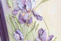 барельеф цветы