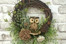 Front door wreaths / by Lisa Rodriguez
