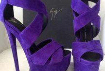 Púrpura zapatos