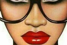 linda com óculos
