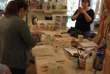 Visting Artist Residency at the Archie Bray. / Images from our month long VA Residency at the Bray