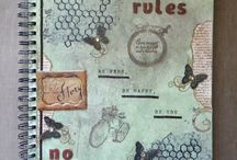 Mixed Media Art Journal / These are pages from my personal art journal.  / by Leslie McGrath