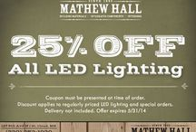 Specials / These specials are available at Mathew Hall