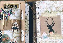 Notebooks, bullet journals, travel books