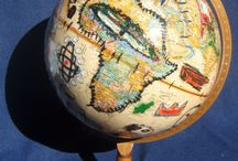 ART TRAVEL / Maps & Globes / // Artistic maps and globes depicting places from all over the world