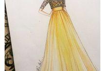 kreslene šaty
