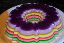 Receita de gelatina colorida