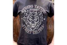 Athens tattoo studio Tshirts and Stickers