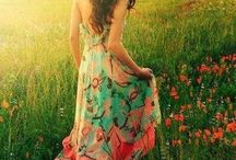 Flowery dress photoshoot