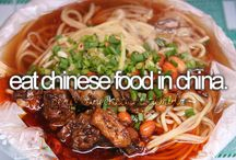 Food: Chinese / All Chinese food. It's ingredients, preparation, presentation and distinctive character.