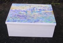 painted wooden jewellery boxes