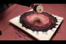 Abstract painting/fluid painting