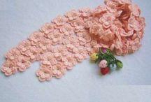 цветочный шарф