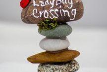 Creative fairy/ladybird stones