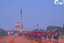 Change of Guard at the Rashtrapati Bhavan / The change of presidential bodyguard ceremony at the Rashtrapati Bhavan