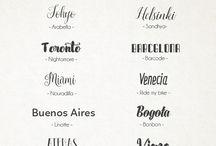 Tipografías <3