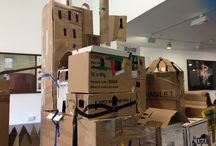 Castle Building 18.7.15 / Today Saturday Playdate was inspired by the painting Castle of Ischia, 1866, by James Webb, on display in The Family Gallery.  We all worked together to build a castle like this.  Here's where we are the end of today....