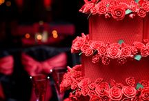 red hot and sexy / such a classy color for a fantastic soiree!  www.nataliesoferweddingsandevents.com