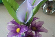 kwiaty z pończoch