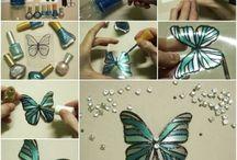 butterflies plastic