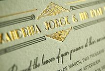 Embossed Wedding Invitations / Luxury wedding invitations by Com Bossa.