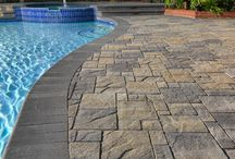 Lounging with Pool Deck Pavers / With summer quickly approaching lounging in your backyards home is one of the best ways to relax and enjoy the beautiful weather. Make it even better with pool deck pavers. View some beautiful pool deck pavers projects and get some inspiration for your own.