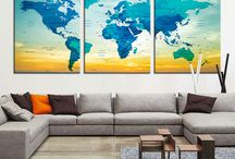World Map Deco