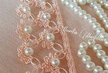 puntillas con perlas