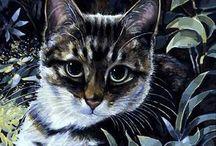 Peintre (Celia Pike) / Chats
