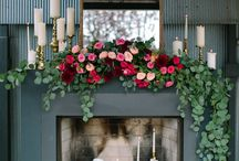:: Fireplace decor | Flowers & leafs ::