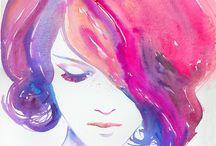 peintures et illustrations / by Alix Espinasse