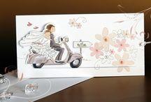 wedding invitation scooter